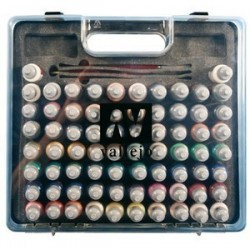 Vallejo Game Color Box Set (72 colours, 3 brushes & carry case)