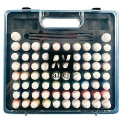 Vallejo Model Color Hobby Range Box Set (72 colours, 3 brushes & carry case)