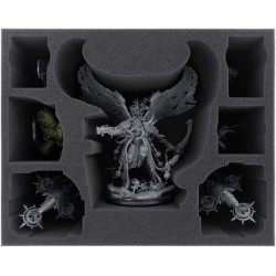 Feldherr 120 mm foam tray for Mortarion + Foetid Bloat-drone + 5 Nurgle miniatures