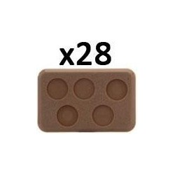Medium Bases 5 (with Figure Holes)