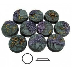 urban ruins Secret Weapon 10 x 25mm round resin bases