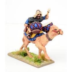 Mongol War Drummer on Camel