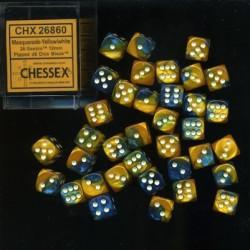 Gemini 12mm d6 Masquerade-Yellow/white Dice Block (36 dice)