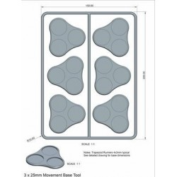 Skirmish Movement Trays 2 (25mm round) (18)