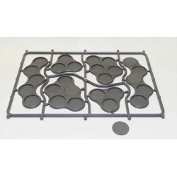 Skirmish Movement Trays 3 (20mm round) (18)