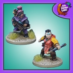 Dwarf Crossbow and Monk