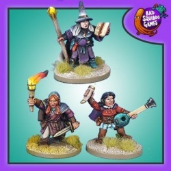 Dwarf Wizard, Bard and Rogue