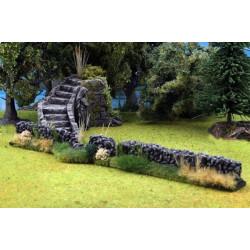 Nature Stone Walls x2