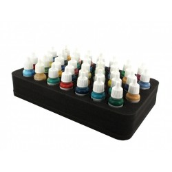 Feldherr 50 mm (2 inch) half-size Figure Foam Tray with base - 37 round compartments for paint pots