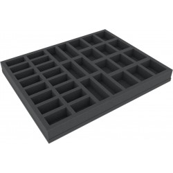 Feldherr 35 mm (1.38 Inch) foam tray with different sized slot foam with base - full-size
