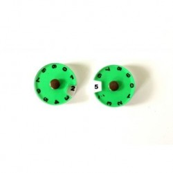 Simple Dials, Green x2