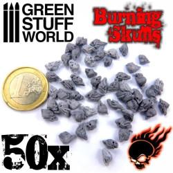 Resin Burning Skulls x50