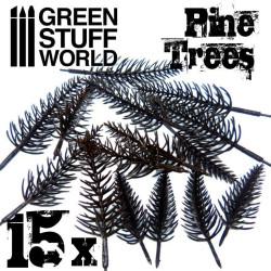 Model PINE Tree Trunks x10