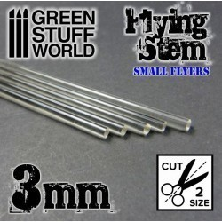 Acrylic Rods - Round 3 mm CLEAR