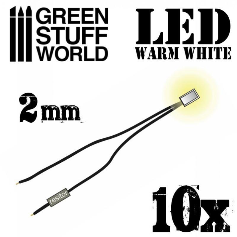 Warm White LED Lights - 2mm