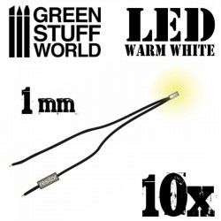 Warm White LED Lights - 1mm