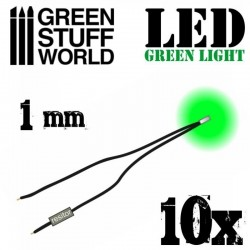 Green LED Lights - 1mm
