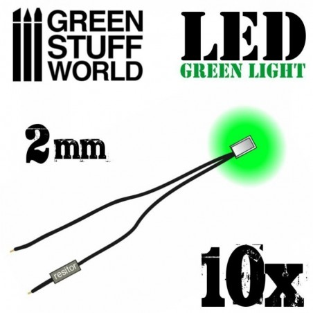 Green LED Lights - 2mm