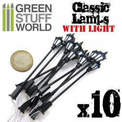 Classic Lamps with LED Lights x10