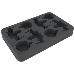 Feldherr 35 mm (1.38 Inch) foam tray for Star Wars X-WING 4 x ARC-170 or K-Wing and accessories