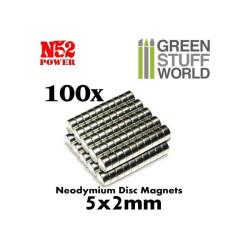 Neodymium Magnets 5x2mm - 100 units (N52)