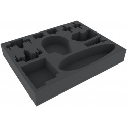 Feldherr 50 mm (2 inch) full-size foam tray for Star Wars X-WING: Falcon, YT-2400, U-Wing and Rebel Transport