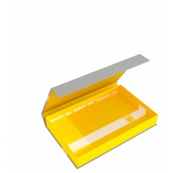 Magnetic Box half-size 40 mm yellow empty