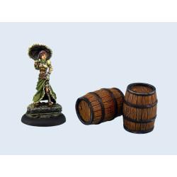 Large Wooden Barrels (2)
