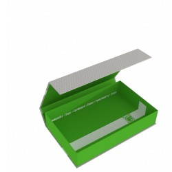 Magnetic Box half-size 55 mm green empty