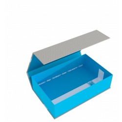 Magnetic Box half-size 75 mm blue empty